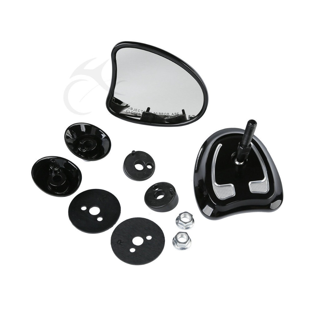 Motorcycle Tapered Fairing Mount Mirrors For Harley Electra Street Glide Ultra Limited 14