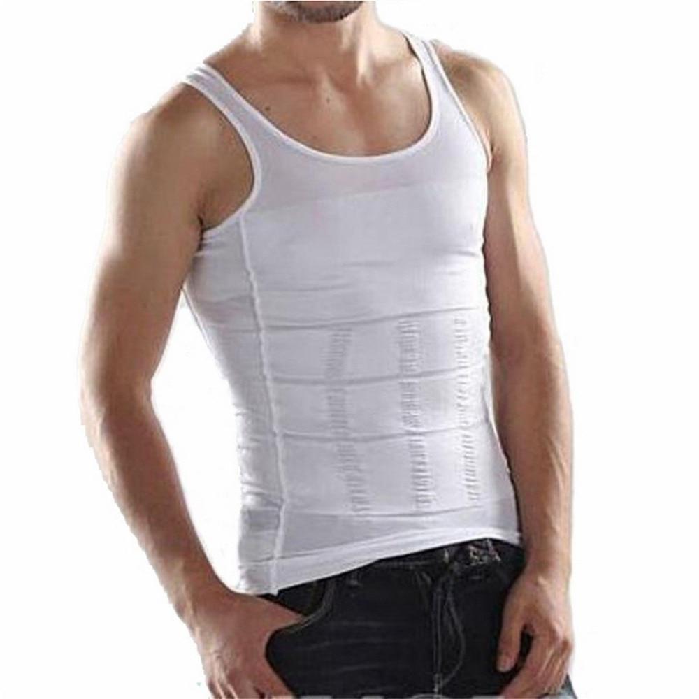 2019 Safety Men Corset Body Slimming Tummy Shaper Vest Belly Waist Girdle Shirt Black Shapewear Underwear Waist Girdle Shirts