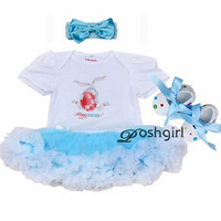 My 1st Easter Sunday Baby Girl Romper Body Bebe Jumpsuit Bebes Rabbit Infant Girls Wear Newborn Clothing Baby Party Dress