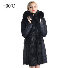c5f90efd5a79 COUTUDI Long Winter Women's Jacket Warm Clothing Elegant Original Fur Lined  Parka Women Luxury Female Casual