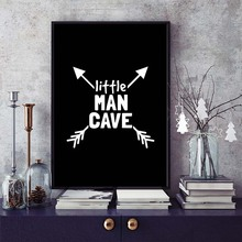 Little Man Cave Wall Art Painting Motivational Quotes Canvas Posters And Prints Home Decor For Kids Room Mural PR2175