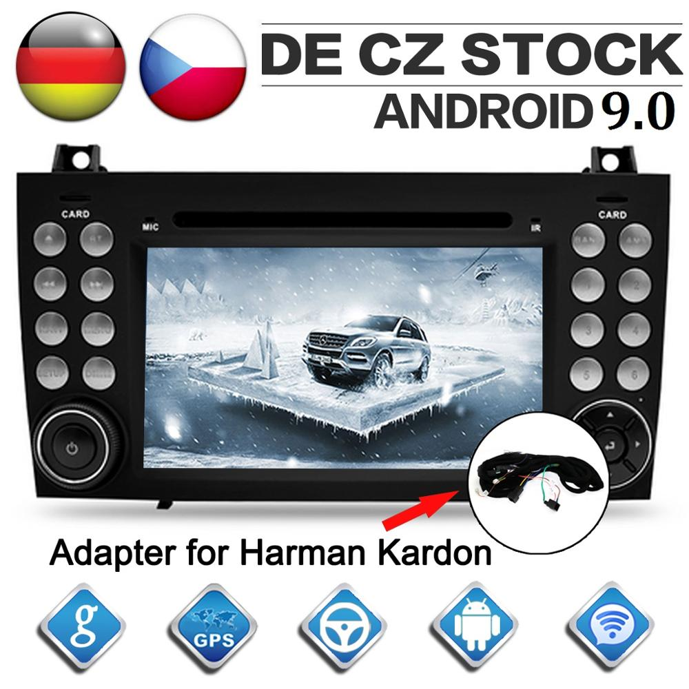 Octa Core CD DVD Player 2 Din Android 9 0 Car Radio for Benz SLK 171