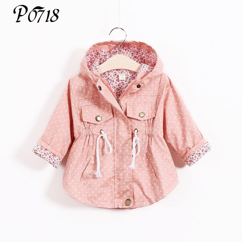 2017 New Spring Autumn Baby Clothes Outerwear Infant Girl Cartoon Coat Wave Printed Batwing Coat Manufacturer Wholesale of Girls