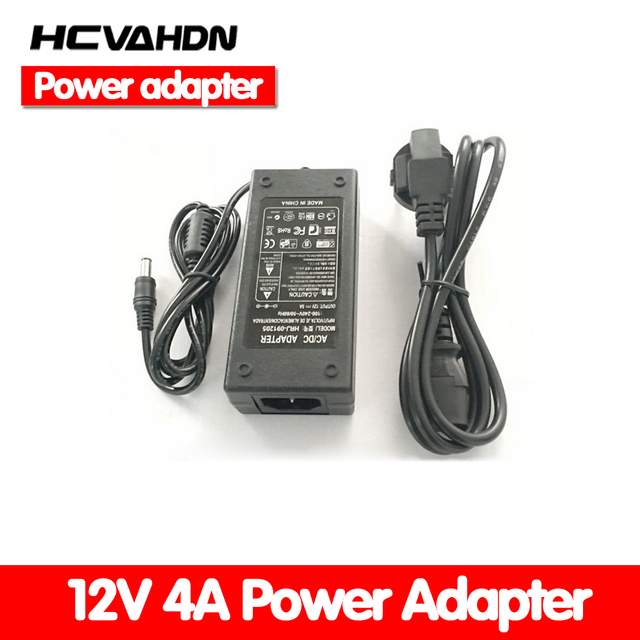 e877d2c32afce 1pcs 12V4A AC 100V 240V Converter Adapter DC 12V 4A 48W Power Supply DC  5.5mm x 2.5mm for 5050/3528 LED Light LCD Monitor-in CCTV Accessories from  ...