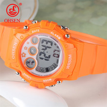 OHSEN New Fashion Children Sports Watches Kid Quartz Reloj LED Digital Clock Student Military Waterproof Watch Relogio Masculino(China)