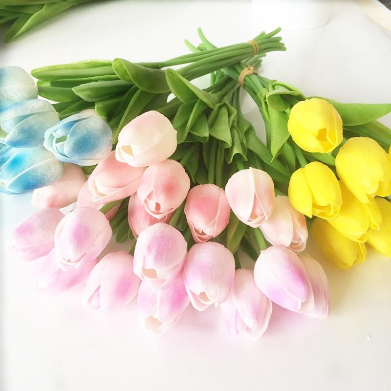 Acheter Tulipe Artificielle Fleurs De Mariage Faux Fleur pour Soirée De Mariage Décoration Simulé Tulip Fleurs Artificielles de artificial flowers fiable fournisseurs