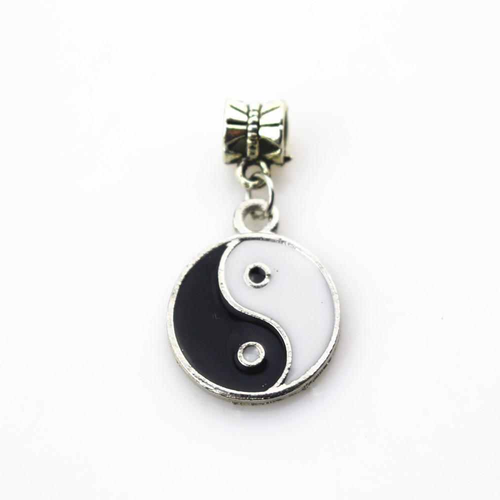 20pcs/lot YINGYANG charms hanging charm big hole pendant beads fit women bracelet & bangle diy jewelry dangle charms