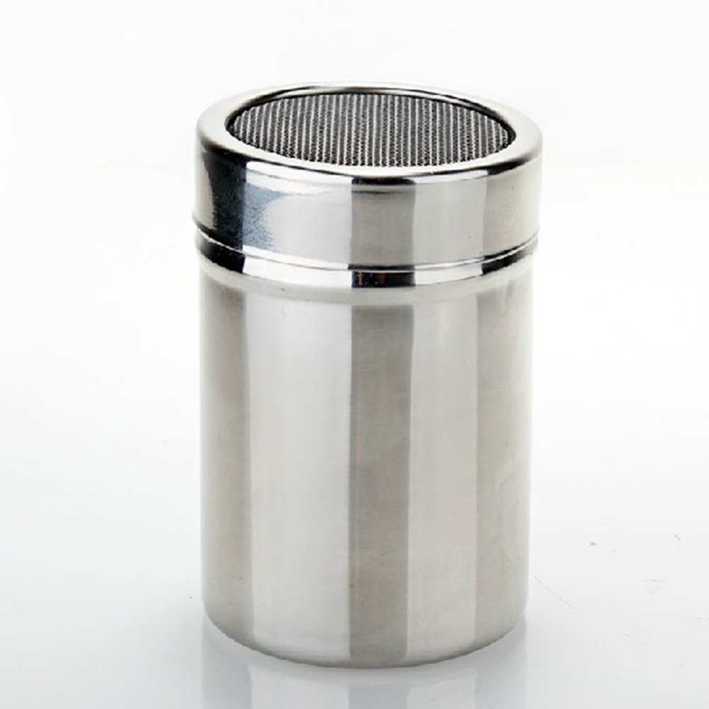 Stainless Steel Flour Sifter Icing Sugar Dredger Chocolate Powder Shaker Lid