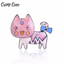 New Arrival Cat  Brooch Bouquet Pins Badge Wedding Broach Jewelry Scarf Accessories Multicolour Enamel Brooches For Women