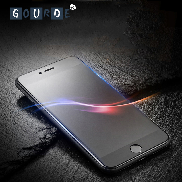 the latest 67b45 e9247 US $2.41 32% OFF| Gourde Matte Tempered Glass for iphone XS Max Curved  Frosted For iPhone 8 plus 7plus Screen Protector for iPhone 6 6s XR film-in  ...
