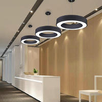Candelabro de techo cuadrado/triángulo iluminación moderna 24W LED lustres Luminaria Plafond lámpara de techo para accesorios de luz de dormitorio LED empotrados     -