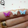 Rare Charm Opal Butterfly Bracelets For Women Bangle Cuff Sinkee Bracelets Brand Jewelry Fashion Bracelet