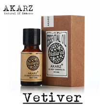 Famous brand AKARZ pure natural Vetiver Essential Oil skin Calm Wound healing Oil control balance antibiosis Vetiver Oil