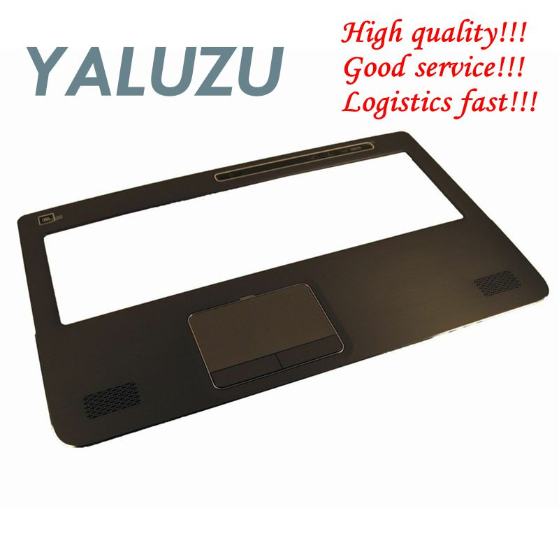 YALUZU NEW FOR Dell XPS 17 L702X L701X 17-L702X Laptop Palmrest Cover Upper Case Keyboard Bezel Touchpad 0R21D6 R21D6 Assembly image