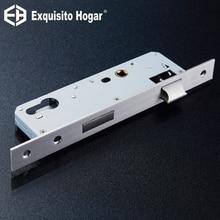 Нержавеющая сталь 85X40 замок аппаратных двери Разделение корпус замка деревянные двери Lockcase металлическим квадратным Панель