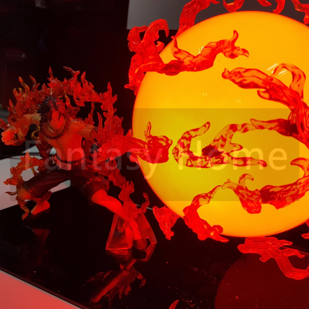 One Piece Action Figure Ace Fire Ball DIY Display Toy PVC Figurine One Piece Portgas D Ace+Ball+Stand (Fire) DIY45