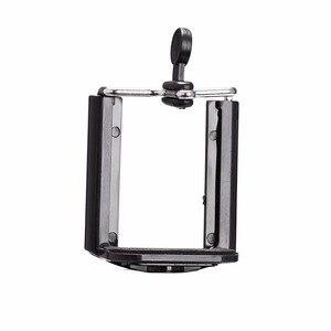 Image 2 - カメラの三脚ホルダー一脚携帯電話調整ホルダースタンド Selfie スティックマウントクリップブラケット