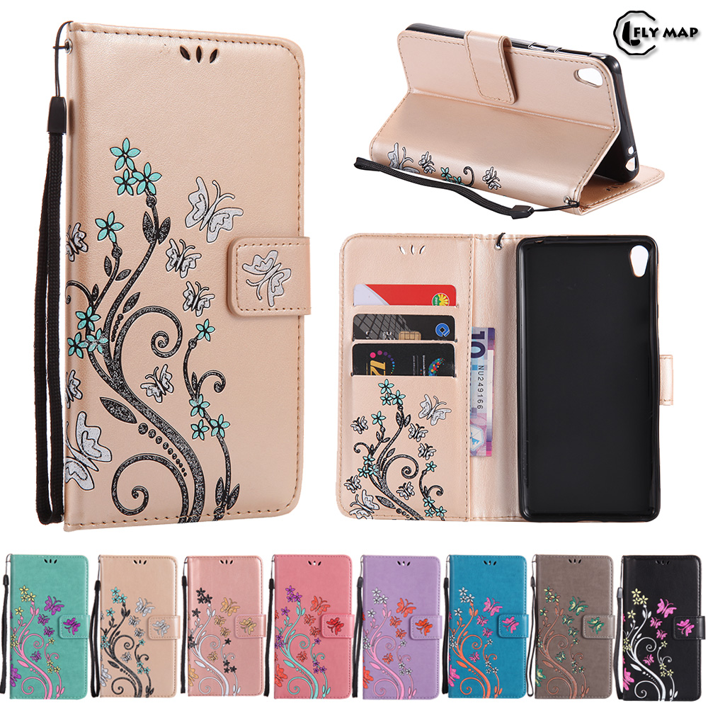 Butterfly Case for Sony Xperia E5 LTE F 3311 Floral Leather Flip Cover Wallet Phone Case for Sony Xperia E 5 Xperiae5 F3311 Capa