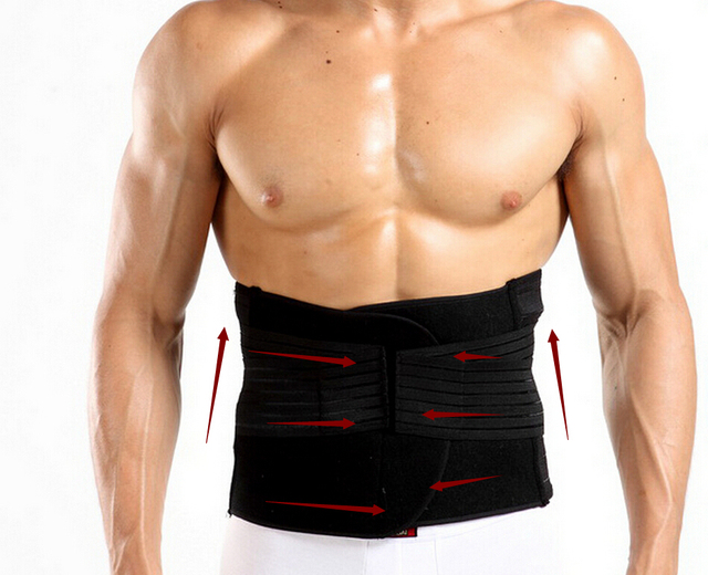 Men Hot body waist touch girdle tummy trimmer slimming abdomen belt bones support the back double compression shaper belt