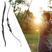 Black F177 Archery Prop Shooting Set Bow Arrow Durable Outdoor Hunting Recurve Bow Professional Sport Device