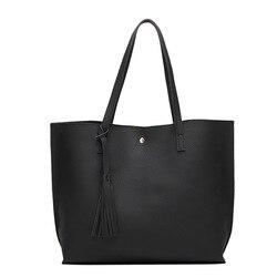 New Ladies Tassels Shoulder Bag Fashion Women Handbags PU leather Large Capacity shopper bags for women 2018 bolsos mujer
