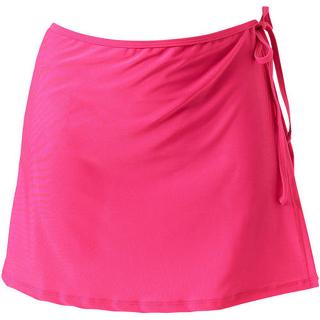 Women Fashion Beach Vacation Bikini Skirt Solid Color Lace-Up Mini Skirt Female Swim Bikini Bottom Hot Sale 2