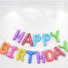 16 inch Zwarte Letters GELUKKIGE VERJAARDAG Folie Ballonnen Verjaardagsfeestje Decoratie Kids Alfabet Air Baby Shower