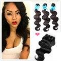 3 Bundle Deals Brazilian Hair Weave Bundles Rosa Hair Products With Closure Brazilian Virgin Hair Body Wave With Lace Closure