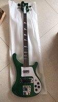 Оптовая продажа Cnbald Электрический бас гитара Новый 4 строка 4003 бас из красного дерева тело/шеи в Matel зеленый 180106