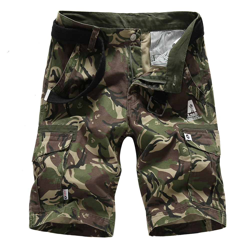 Camouflage Camo Cargo Shorts Men 2018 New Mens Casual Shorts Male Loose Work Shorts Man Military Short Pants Plus Size 28-38