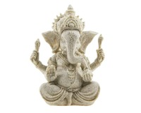 Handmade Ganesha Elephant God Statue Sandstone Sculpture Buddha Figurine Decoration