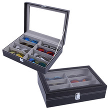 8 Grids Handmade Glasses Box Jewellery Organizer Jewellery Box for Glasses Case Display(China)