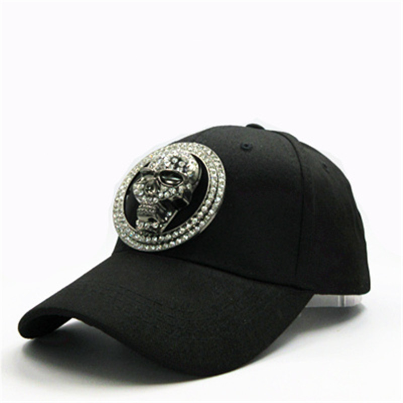 0abd87a0 Metal skull cotton Casquette Baseball Cap hip-hop cap Adjustable Snapback  Hats for kids men