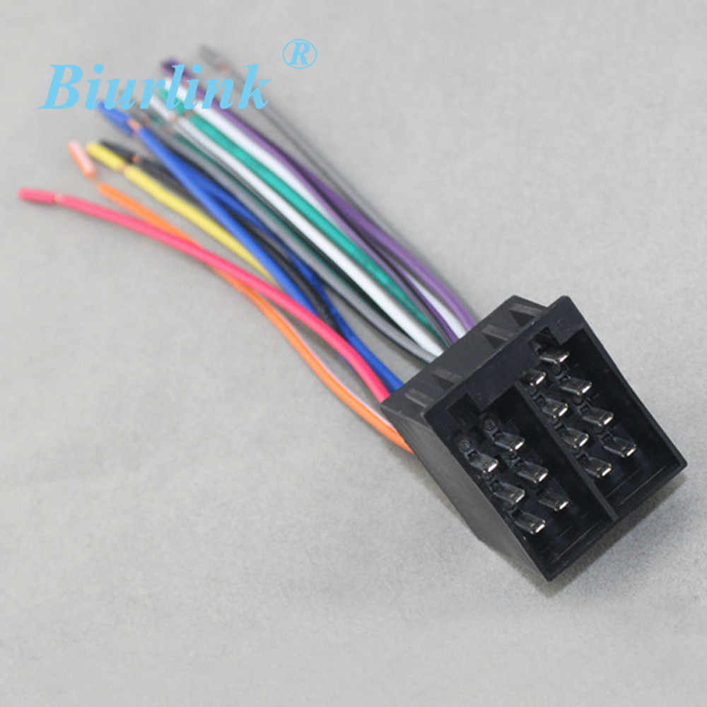 medium resolution of universal female iso radio wire harness adapter for volkswagen citroen audi