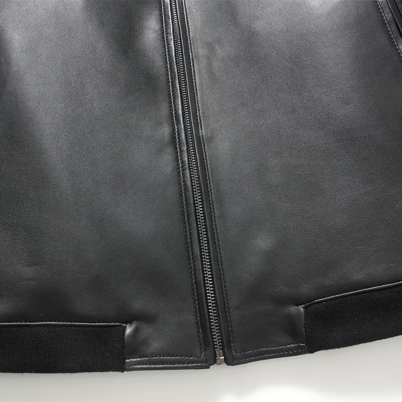 Gours Güz ve Kış erkek Hakiki Deri Ceketler Erkek Giyim Koyun Deri - Erkek Giyim - Fotoğraf 5
