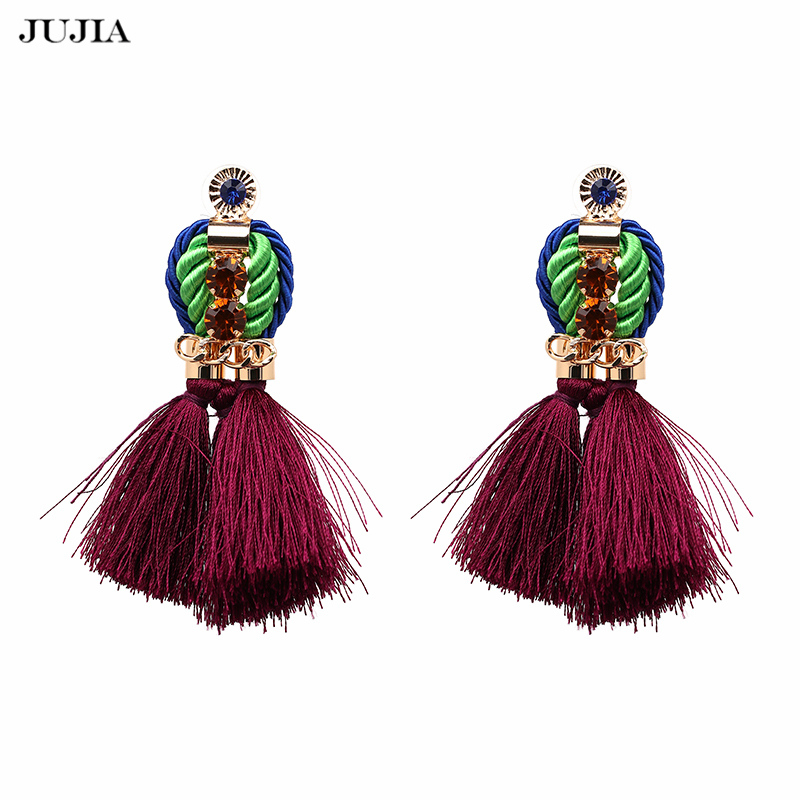Classic Rope Tassel Earrings for Girls Drop Fringing Earring Bohemia Indian Ethnic Jewelry Fashion Earrings for Women
