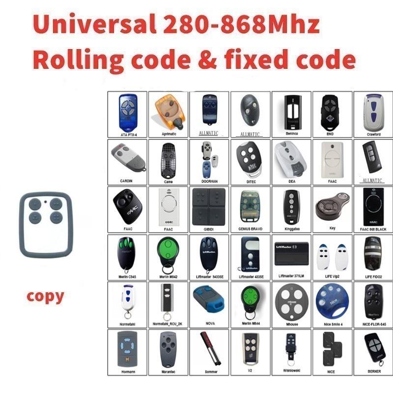 Multi frequency 280-868mhz clone for  garage door remote control for Nice Smilo 2Multi frequency 280-868mhz clone for  garage door remote control for Nice Smilo 2