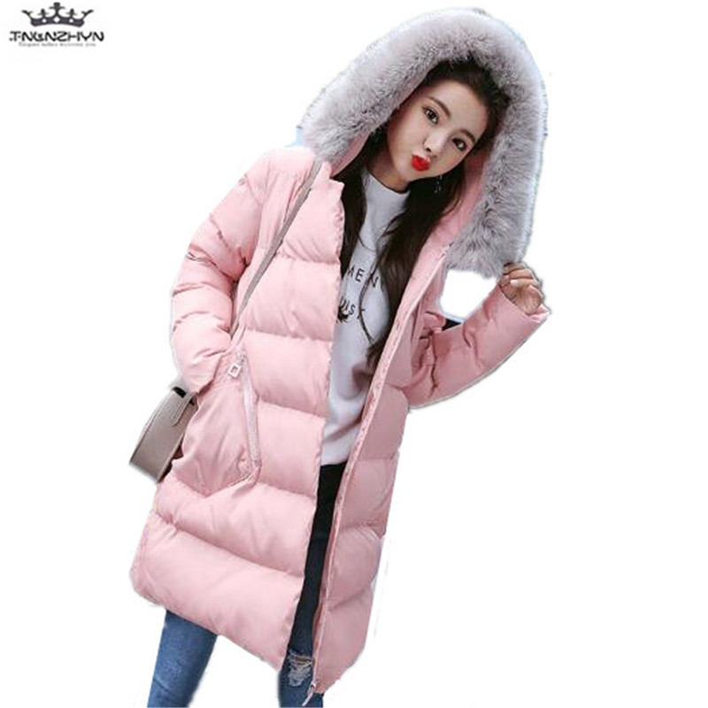 tnlnzhyn 2017 New Winter Pregnant Women Jacket Thick Fur Collar Hooded Down Cotton Coat Fashion Warm Maternity Coats Y626 pregnant women winter coats thick warm cotton jacket new fashion women coat knit patchwork long sleeve loose hooded jacket g2834