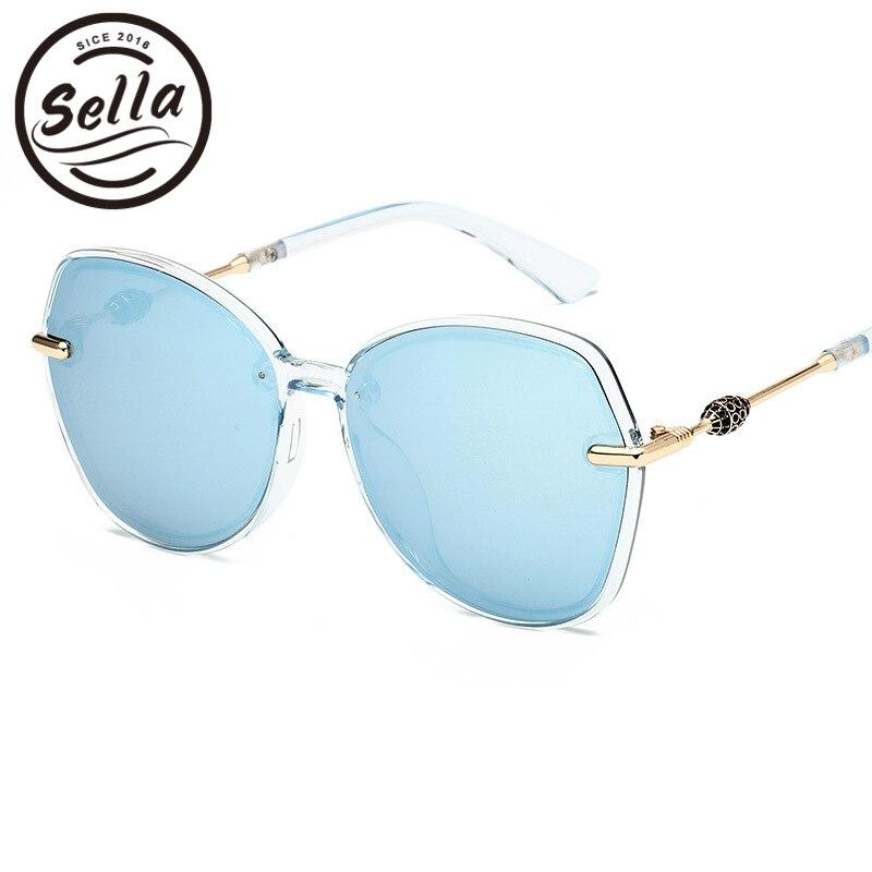 Sella New Arrival Hot Sale Korean Style Fashion Women Polarized Cateye Sunglasses Classic Retro Ladies Mirror Lens Sun Glasses