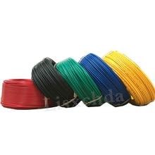 Оптом 1pin 5 метров супер гибкий 22AWG ПВХ изолированный провод электрический кабель, светодиодный кабель, DIY подключение 7 цветов на выбор