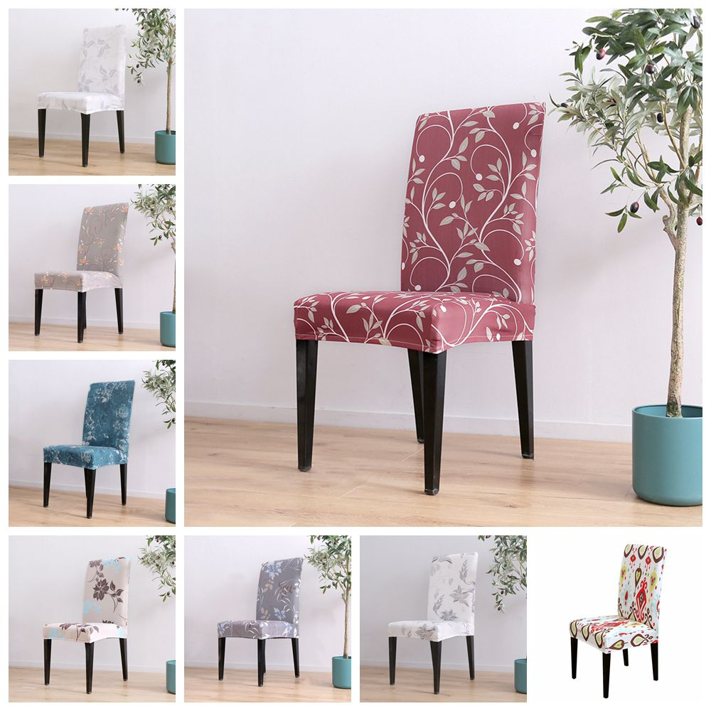 Modern Removable Chair Cover Stretch Dining Seat Cover Elastic