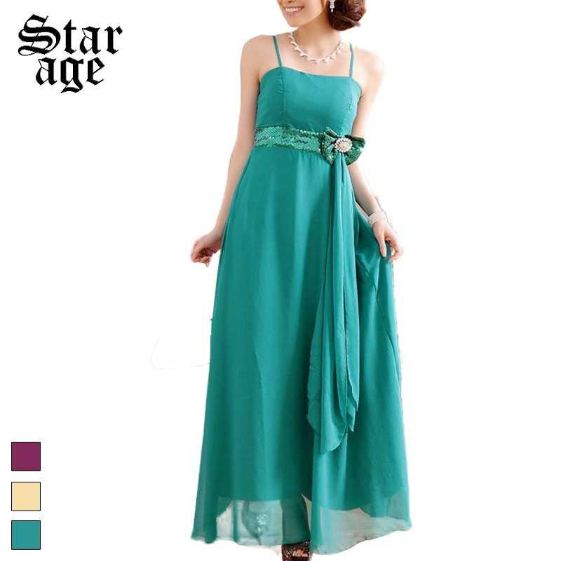 976384cf714 ... M-XXXL Sequined Chiffon Long Dinner Dresses With Ribbon Bow Elegant  Plus Size Tube Top ...