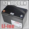 12V 100AH Солнечный свет Golf Car UPS комплект литий-ионный батарей