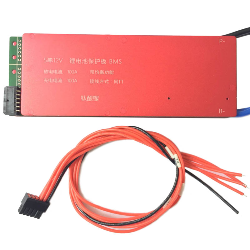 LTO Battery BMS 5S 12V 80A 100A 200A Lithium Titanate Battery Circuit Protection Board BMS PCM for LTO Battery Pack Same Port lto battery bms 5s 12v 80a 100a 200a lithium titanate battery circuit protection board bms pcm for lto battery pack same port