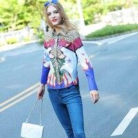 Women Summer Autumn Fashion Leopard Print Top Elegant Design Turn Down Collar Casual Slim Blouse Colorful