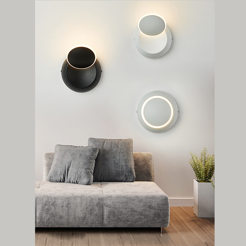 Modem LED wall lamp the lampshade rotates 360 degrees bedside light sittingroom lights in LED Indoor Wall Lamps from Lights Lighting