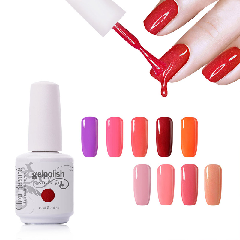 Premium Ποιότητα 15ml Clou Beaute Gel Νυχιών Gel Lacquer Gel Nail Salon Gel UV Gel Nail Polish Απορροφήστε το UV led Gel Polish