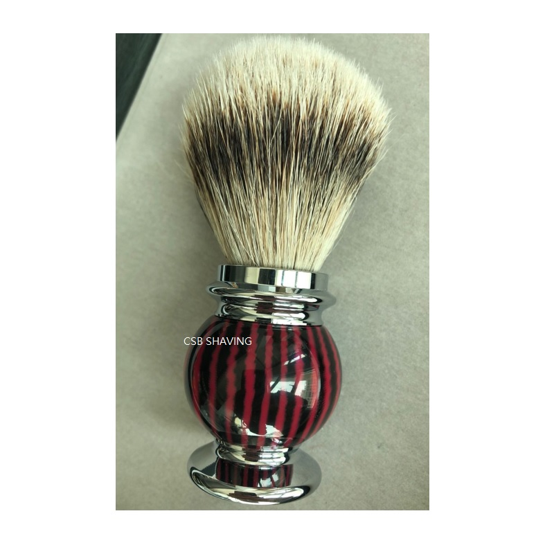 CSB High Quality Silvertip Badger Hair 20mm Shaving Brush Mustache Beard Shave Wet Tool Resin Handle Barber Shop Salon