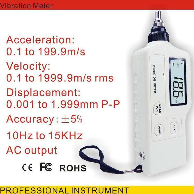 Handheld Digital Vibration Sensor Meter Tester Portable lcd vibration meter Vibrometer Analyzer Acceleration GM63A  цены