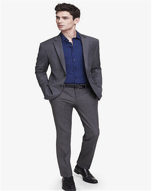 Custom made Groom Tuxedos Best man Wedding suits Groomsman Men ...